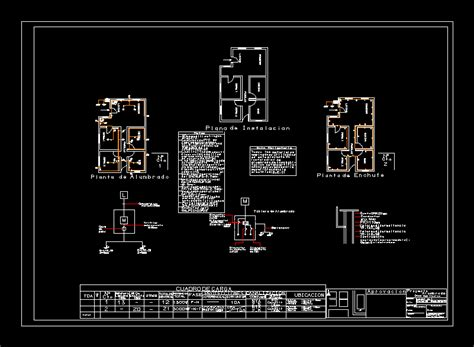 residential electrical installation plano home dwg