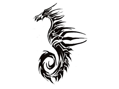 seahorse tattoo designs black 60 sea creature sea designs and pictures