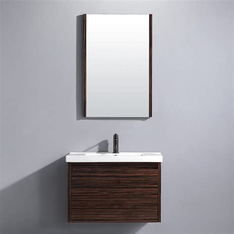Vigo 32 Quot Espresso Petite Single Bathroom Vanity With Mirror Mirrors For Bathrooms Vanities