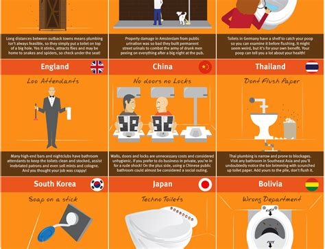 worlds weirdest toilets infographic matador network