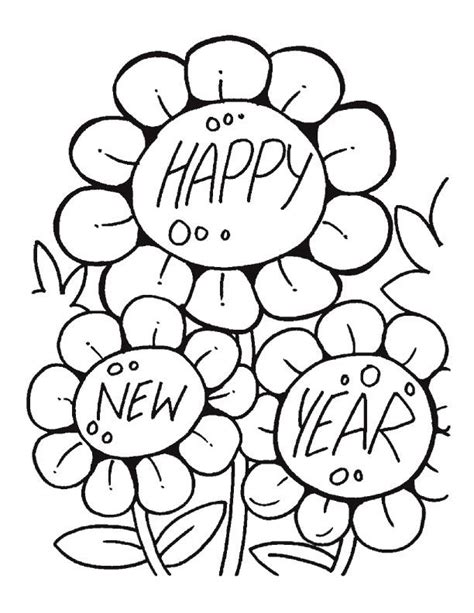 Happy New Year Coloring Pages Best Coloring Pages For Kids Happy New Year Coloring Page