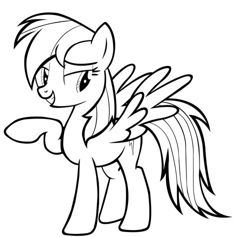 my little pony rainbow power coloring pages mlp rainbow dash vector by goldfisk on deviantart