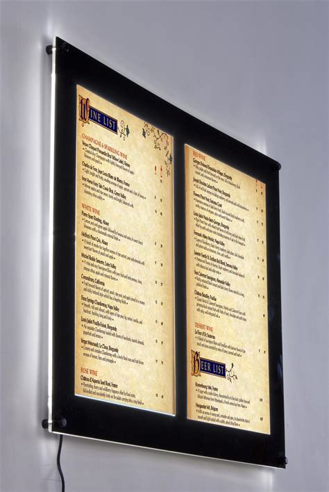 Poster Sunnah Poster Panel Poster Frame Borderless 11 indoor led sign translucent poster display backlit