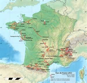 Tours France Map by Tour De France 2011 Schedule Map Teams