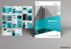 book layout adobe teal business proposal booklet layout buy this stock