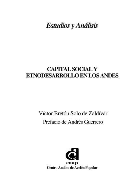 (PDF) Capital social y etnodesarrollo en los Andes