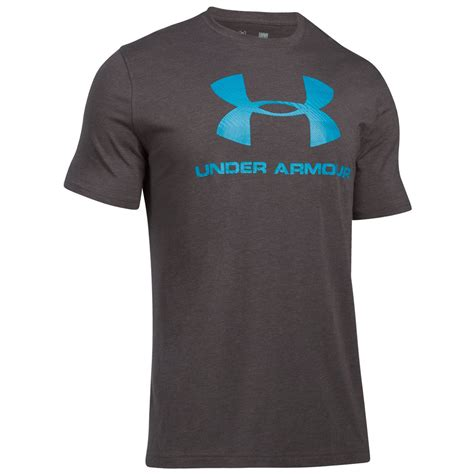 T Shirt Armour Foil armour mens charged cotton sportstyle logo t shirt 23 rrp ebay