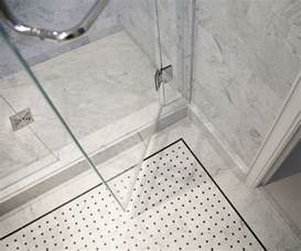 shower floor tile wrapping bathroom interior chic layouts traba tiles bath ideas bathrooms accent
