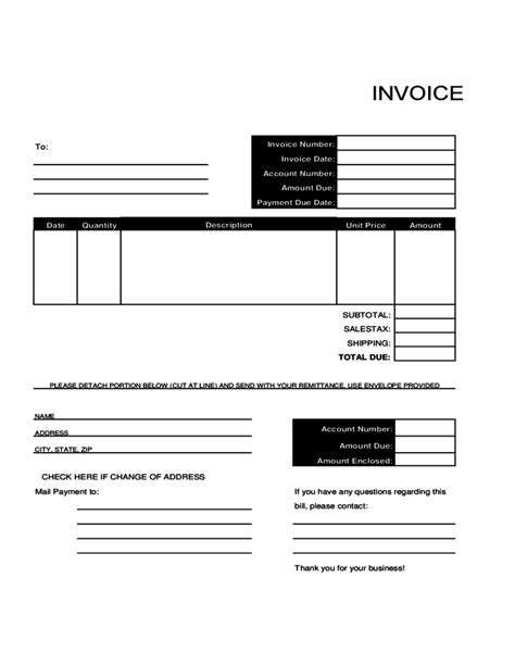 Bill Invoice Template Free by Sle Billing Invoice Template Free