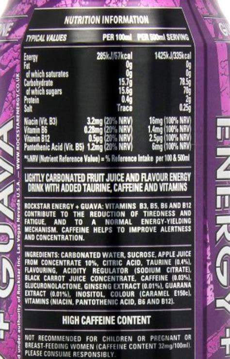 energy drink ingredients rockstar energy drink ingredients