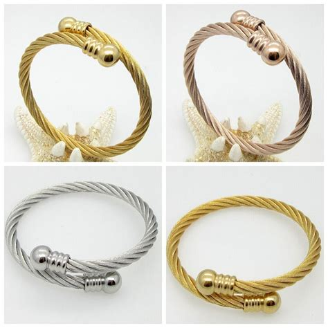 stainless steel wire for jewelry womens fashion bracelet stainless steel three color wire
