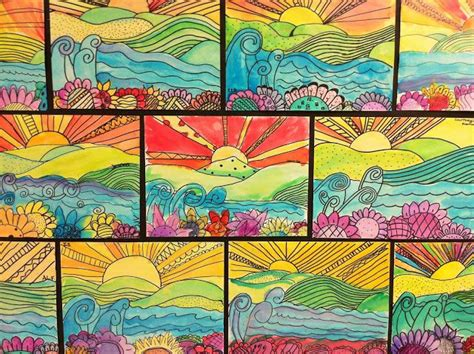 pattern art projects elementary 17 best images about art classroom projects upper grades