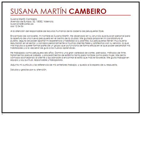 Modelo Curriculum Vitae Peluqueria Modelo De Carta De Presentaci 243 N Peluquero Livecareer