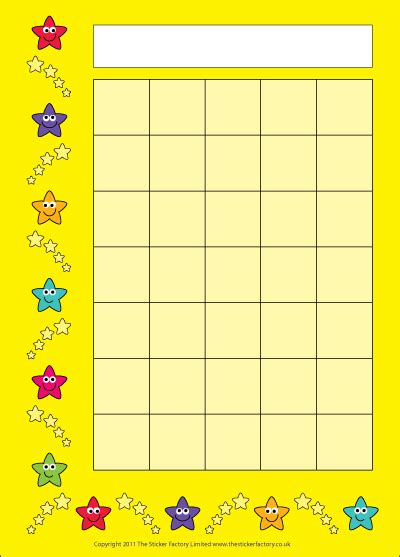 sticker chart 8 best images of smiley reward chart classroom