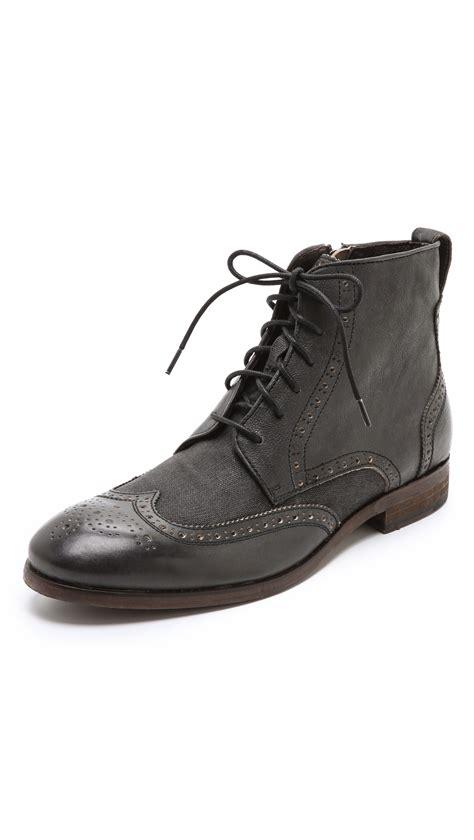 varvatos boots mens varvatos dearborn nyc wingtip boots in black for