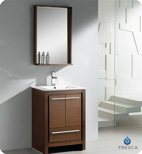 Fresca Bathroom Vanity by Fresca Allier 24 Quot Wenge Brown Modern Bathroom Vanity With Mirror