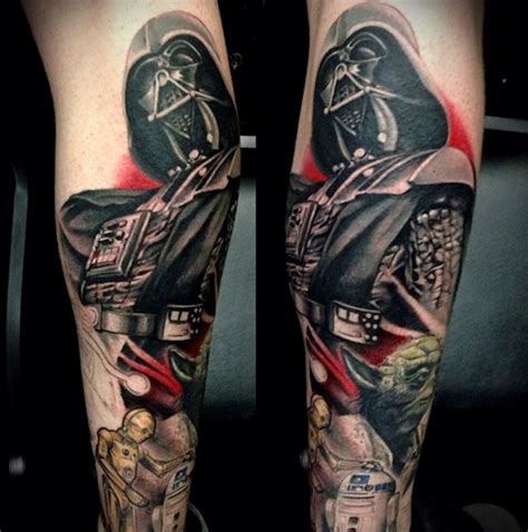 star wars tattoo sleeve 25 awesome wars tattoos form ink