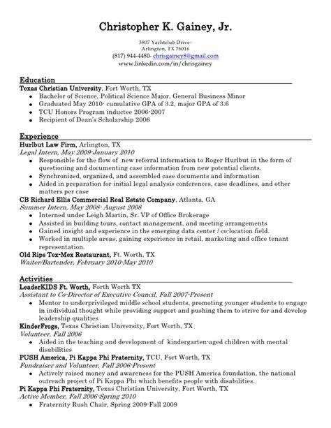 chris gainey resume