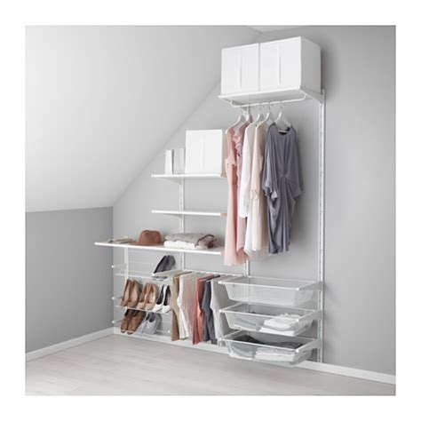 open clothes storage system diy algot wall upright shelves pants hanger ikea