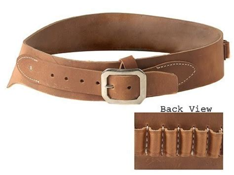 oklahoma leather cowboy drop loop cartridge belt 44 45 cal