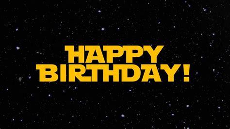 happy birthday star design star wars happy birthday wishes