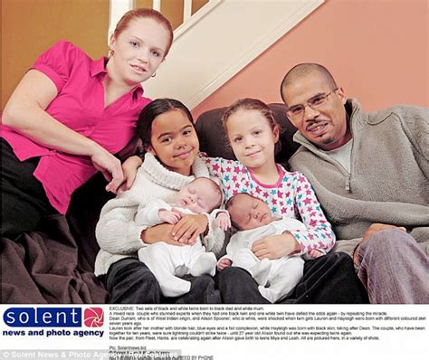 Mixed race couple gives birth to black and white twins for the second