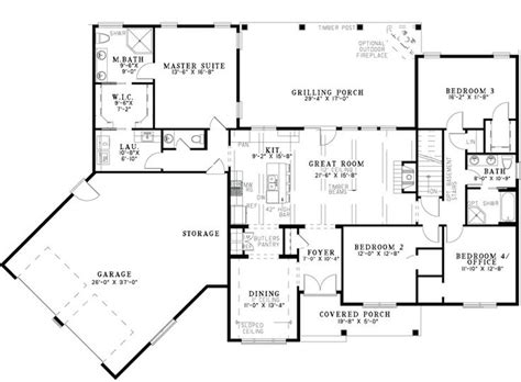 Ranch Floor Plans With Two Master Suites by 44 Best Dual Master Suites House Plans Images On Pinterest