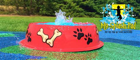 puppy pad spray bowl water play feature by my splash pad