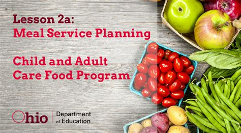 cacfp forms child and adult care food program cacfp cacfp course for ohio department of education online