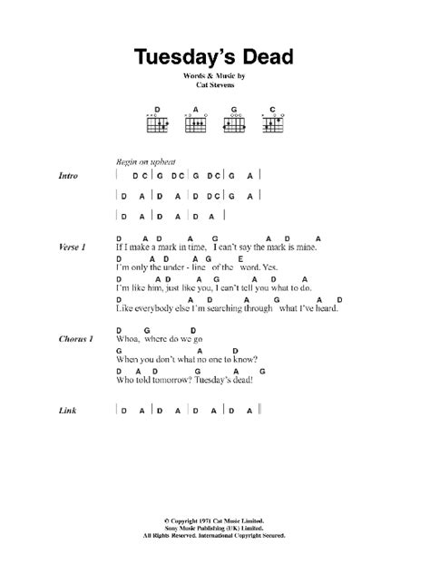 Cat Stevens Guitar Chords And Lyrics
