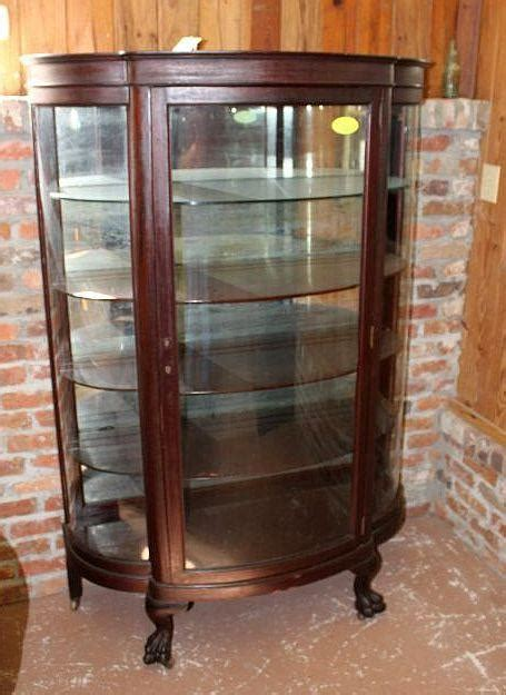 china cabinet glass replacement mahogany curved glass china cabinet paw feet roberts