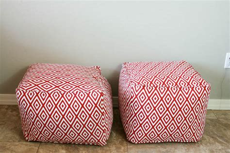 homemade pouf ottoman diy pouf ottoman tutorial and lessons learned pretty