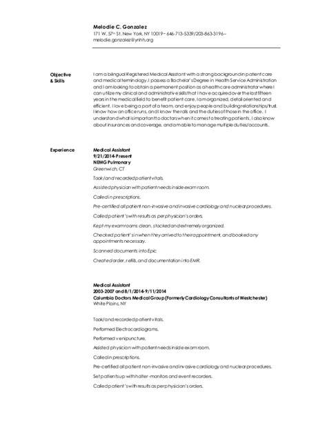 Resume Me Org Chronological Resume