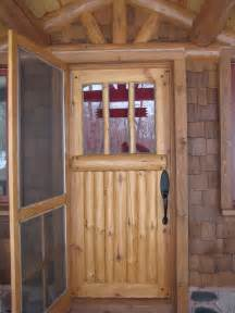 Insulated Exterior Doors Custom Made Bolder Shores Log Branch Entry Door