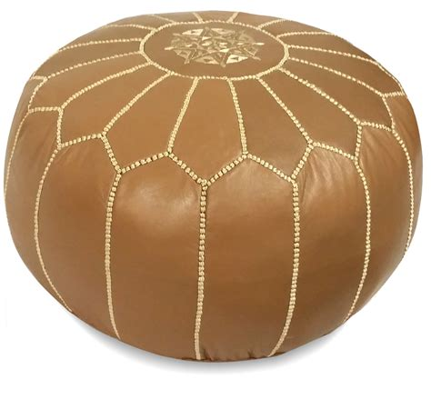 light tan moroccan pouf light brown moroccan leather pouf ikram design