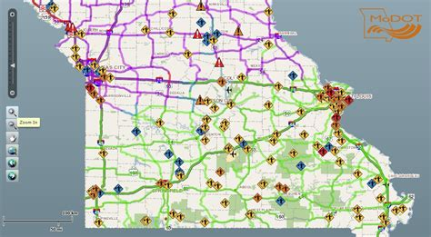 modot traveler map winter closes i 29 and causes other traffic hazards