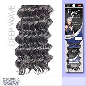 salt and pepper in hair extentions amazon com foxy weave deep wave12 foxy silver weave