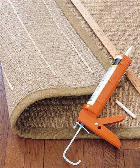 Felt Pads For Rugs On Hardwood Floors by Caulking To Prevent Rugs From Slipping New Uses For Old