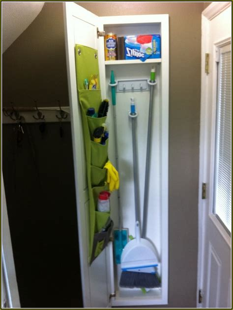 broom closet cabinet diy closet organization tips home design ideas
