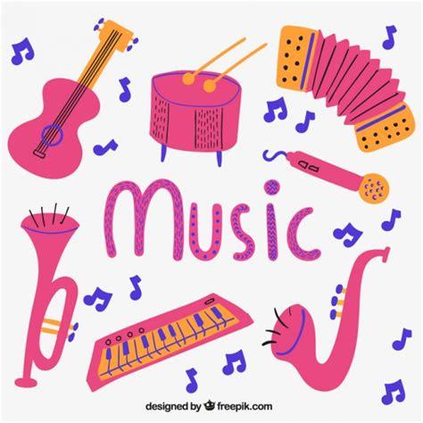 imagenes animadas instrumentos musicales instrumentos musicales rosa descargar vectores gratis