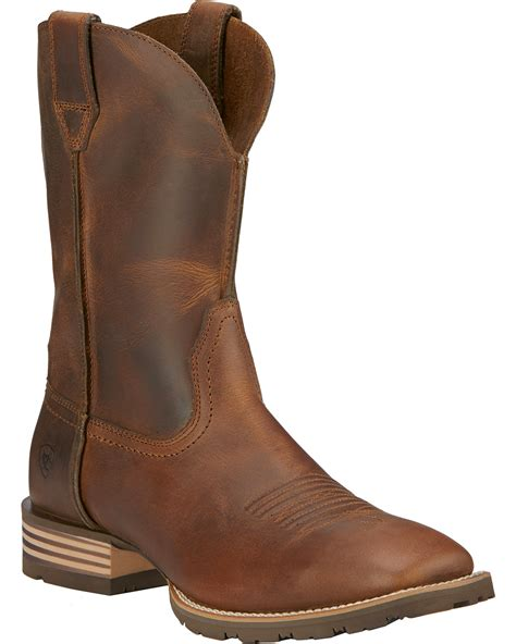 ariat toe boots ariat hybrid side cowboy boots square toe