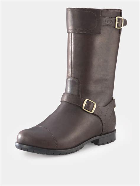 ugg leather boots ugg ugg australia gershwin leather boots chocolate