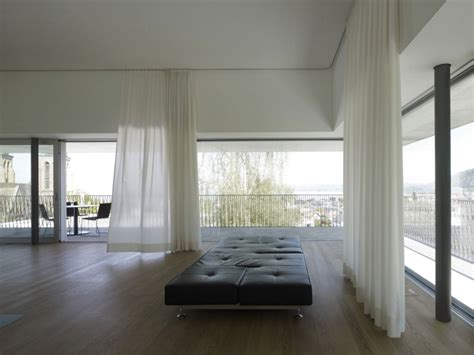 modern home curtains house by the lake by marte marte architekten