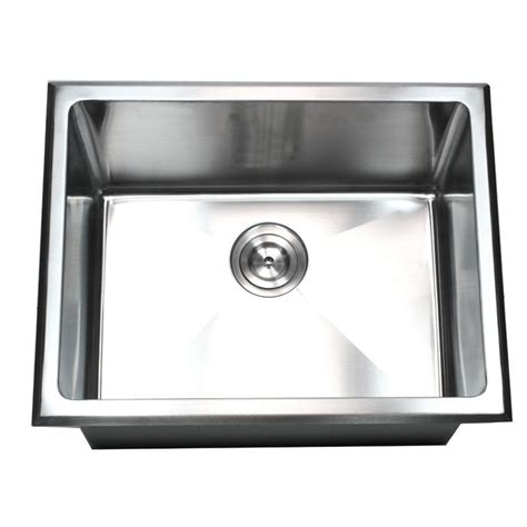 kitchen utility sink 23 inch undermount drop in stainless steel single bowl