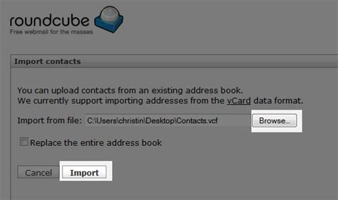 format csv roundcube importing contacts into roundcube web hosting hub