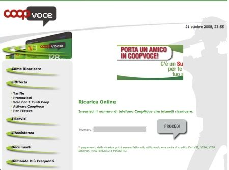 offerte telefonia mobile coop coopvoce tariffe al risparmio io chiamo
