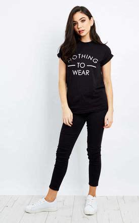 Nothing But Black Shirt nothing to wear black t shirt silkfred