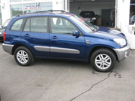 used toyota rav4 2002 petrol 2 0 gx 5dr 4x4 blue manual