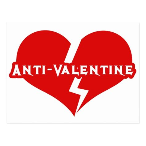 anti valentines day heartbreaker postcard zazzle