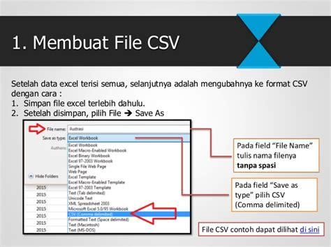 format csv adalah cara pengisian e spt pph pasal 21